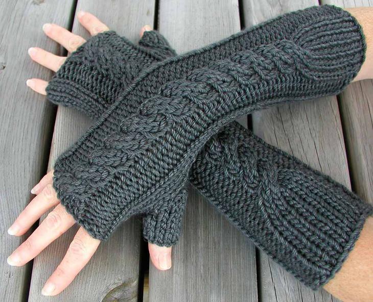 Half finger winter gloves
