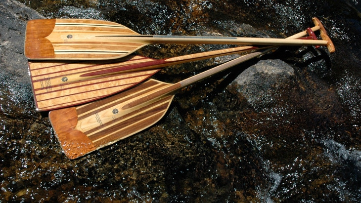 Handcrafted canoe paddles