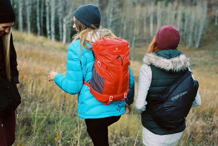Kids on backpacking hike