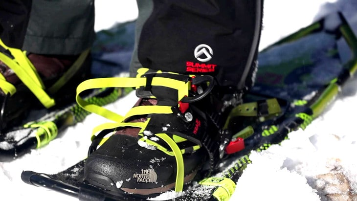 Loose snowshoes boots