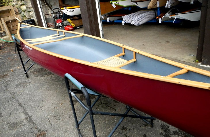Newly built canoe