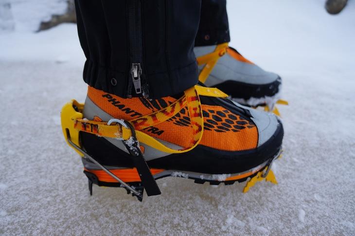 Orange glow boots