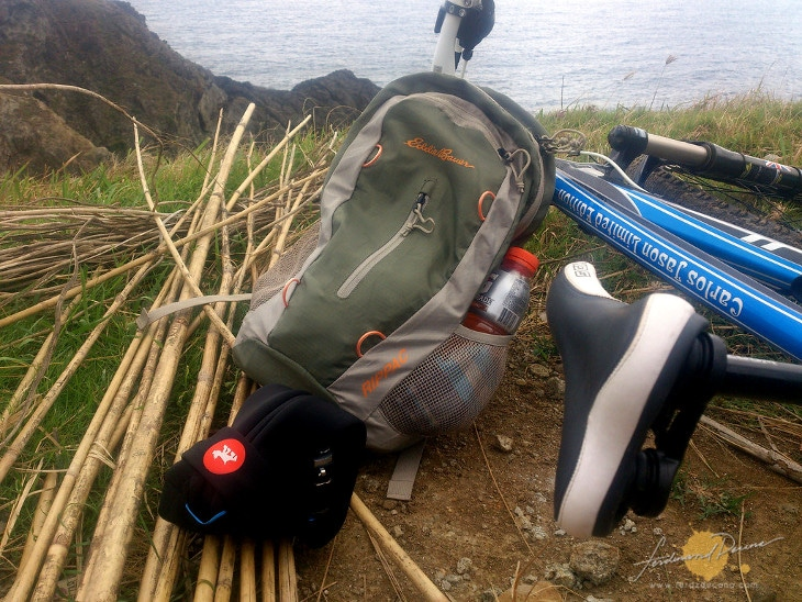 Packable daypack on bike