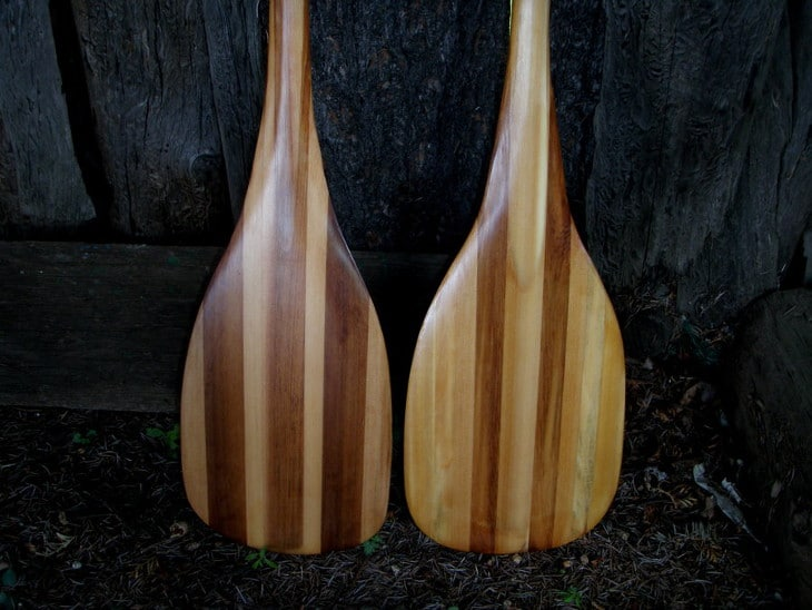 Paddles made from wood