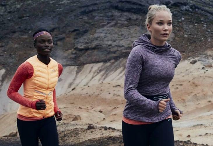 Pair of girls running