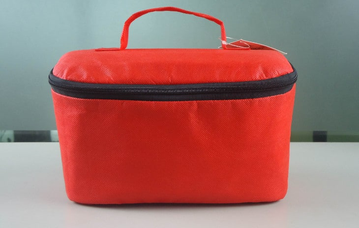 Red cooler bag