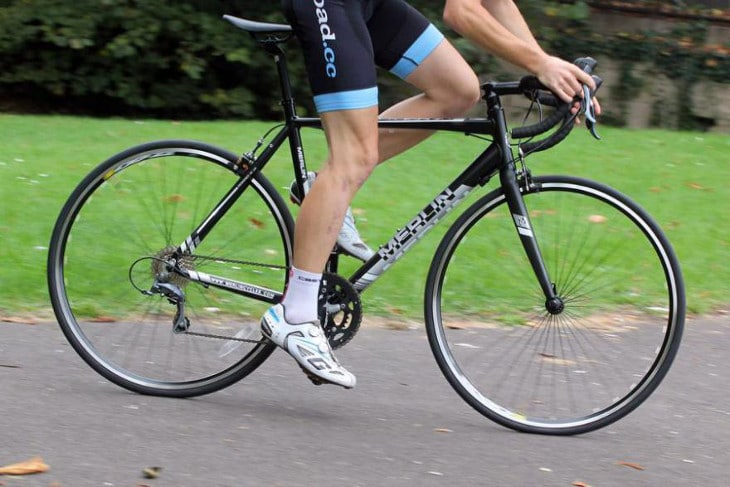 Road bike at park