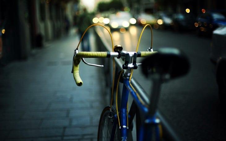 Road bike in the city