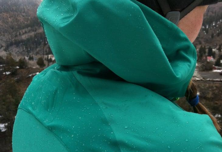 Sea green softshell jacket