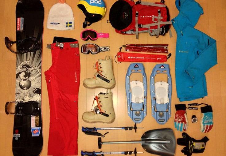 Ski gears all set