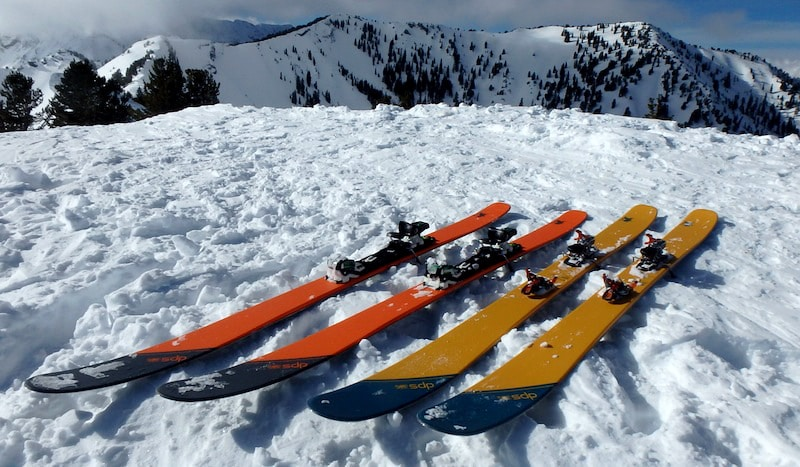 Skis ready to be ridden