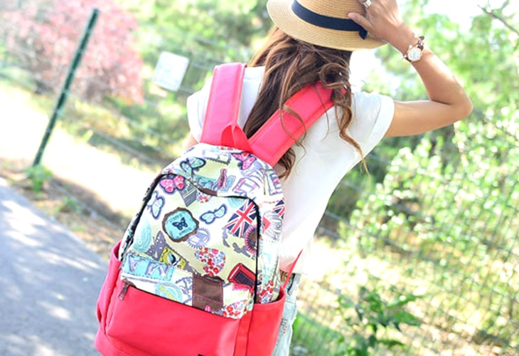 Stylish travel backpack for women