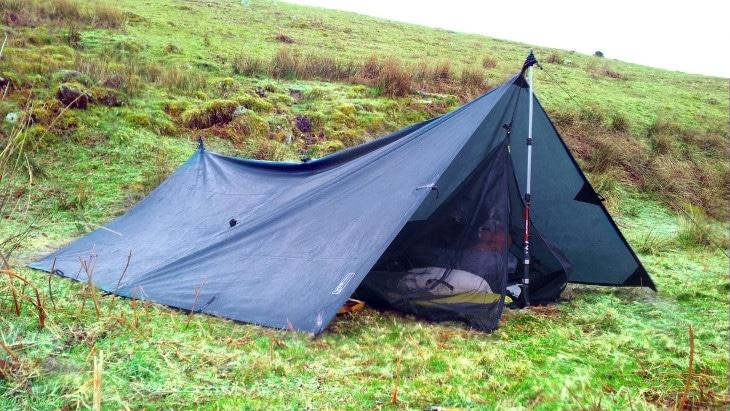 Tarp camp setup