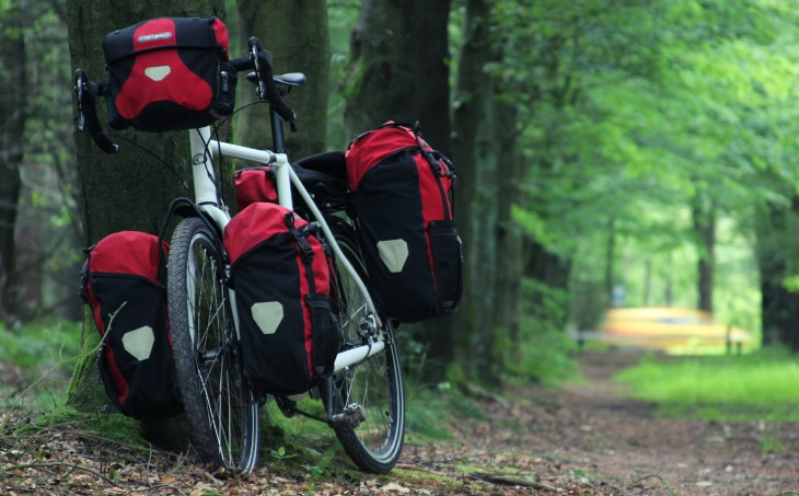 Touring bike in forest