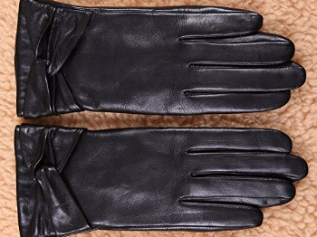 Traditional Womens Winter Leather Gloves