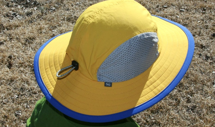 Yellow kids hiking hat