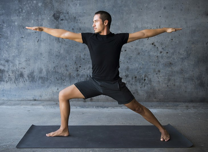 Yoga training man