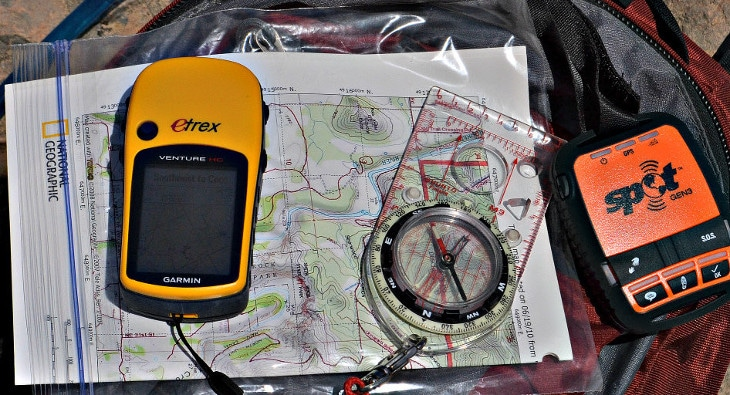 gps beacon maps and compass