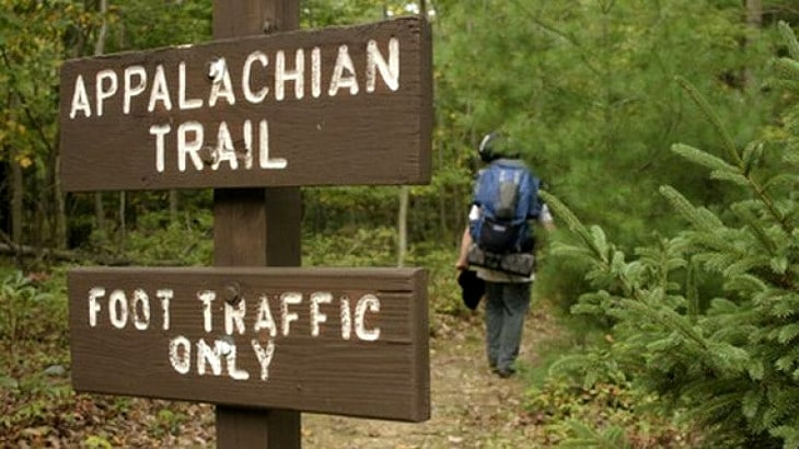 Appalachian foot traffic sign