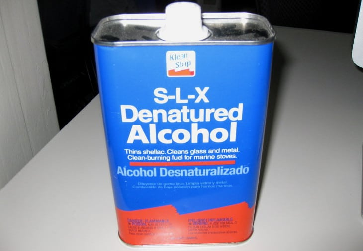 Can of denatured alcohol