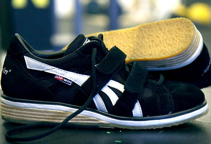 Chucks style weightlifting shoes