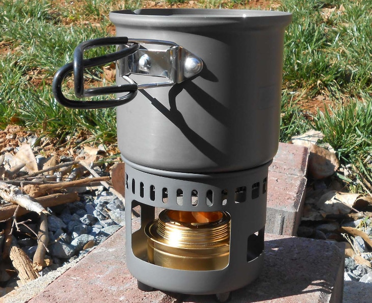 Cooking with esbit stove