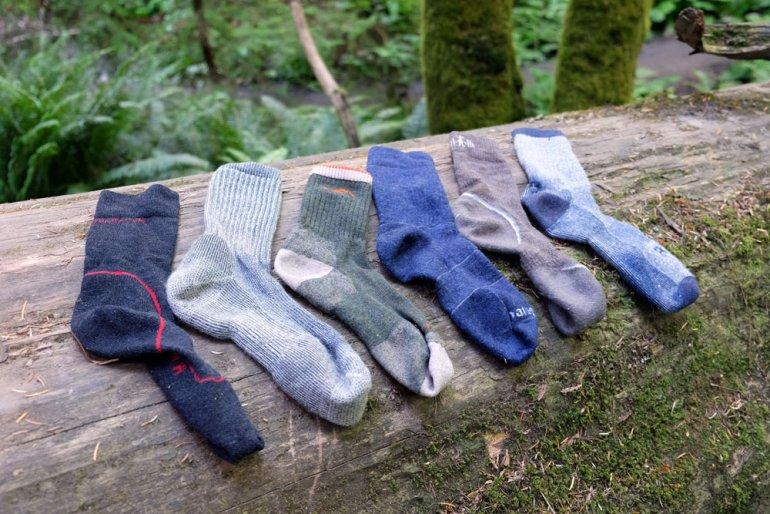 Drying hiking socks