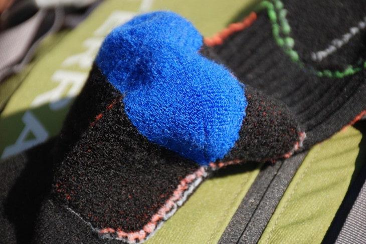 Durability of cushioned socks