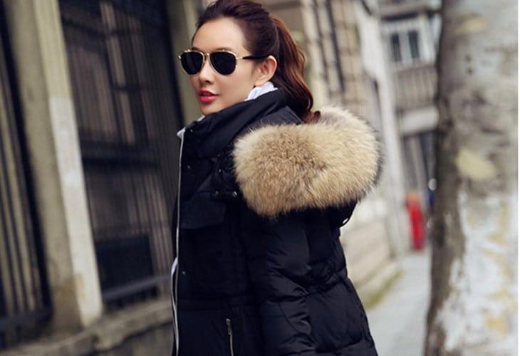 Fur hoodie coat