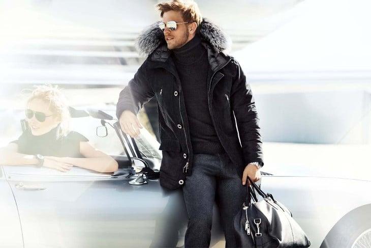 Fur lining winter jacket