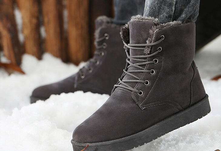 Insulated winter snow boots