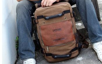 KAUKKO Mens Canvas Army Backpack