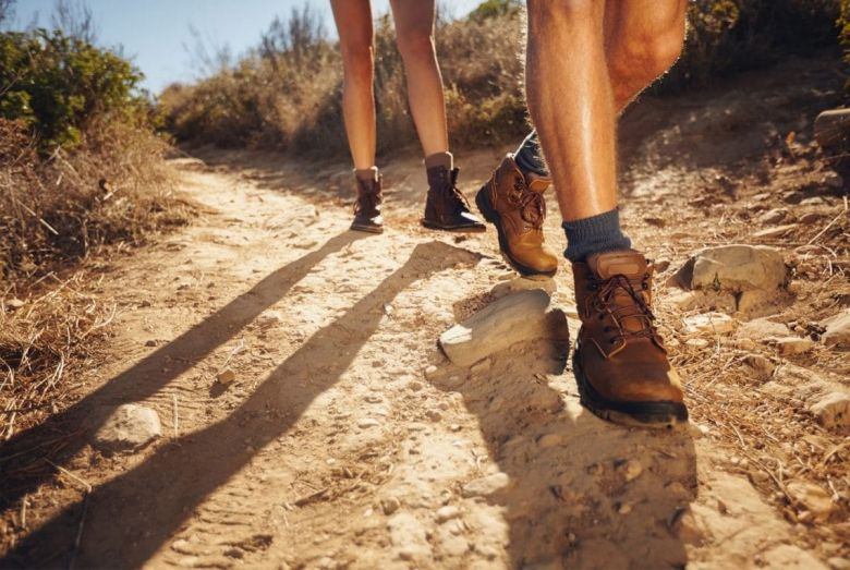 Man and Woman in Hiking Boots