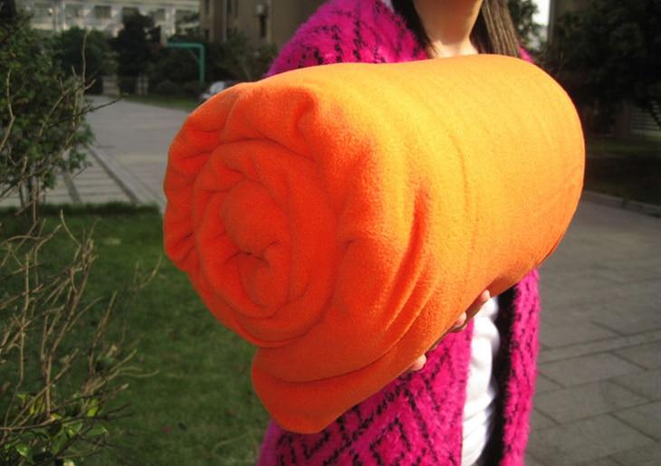 Orange fleece liner