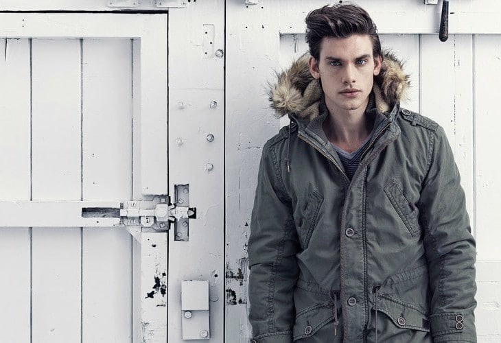 Parka jacket with fur