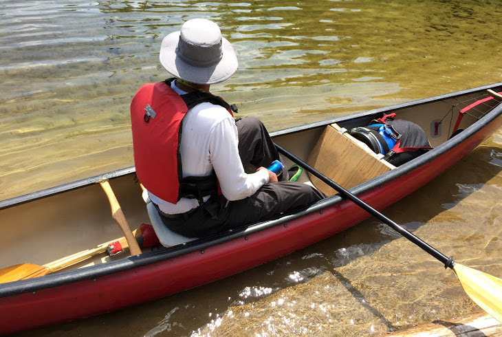 Ready for canoeing
