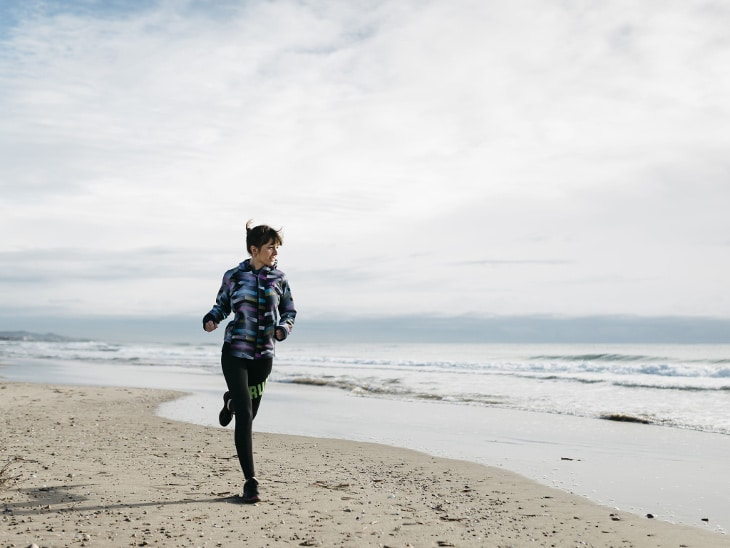 Running by the sea