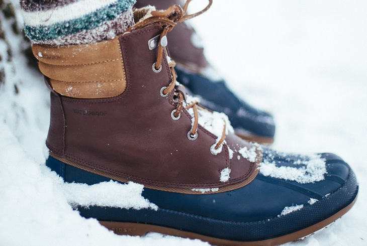 Snow boots temperature rating