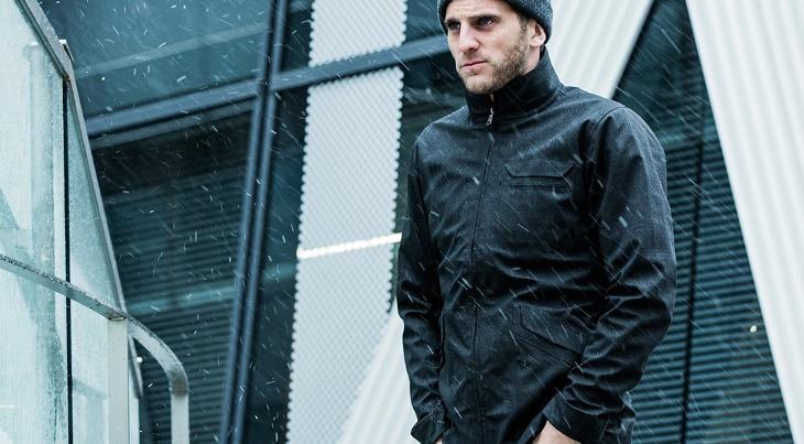 Snow on jacket