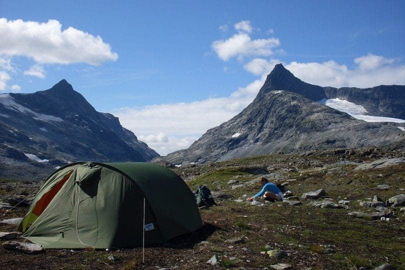 Tent Mountains Landscape Camp