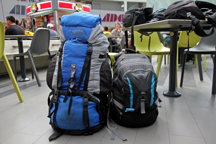 Two traveling backpacks