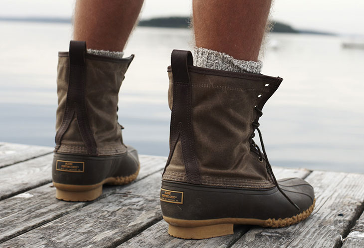 Untied snow boots