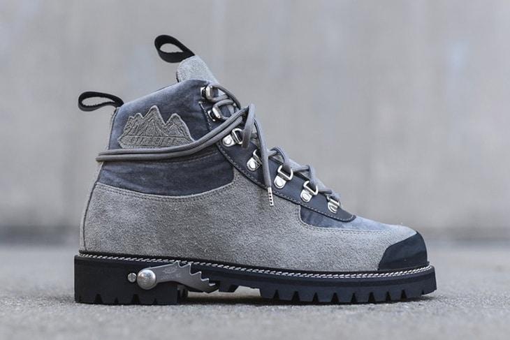Warm hiking boots
