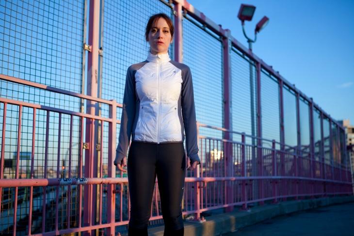 Women wearing running jacket