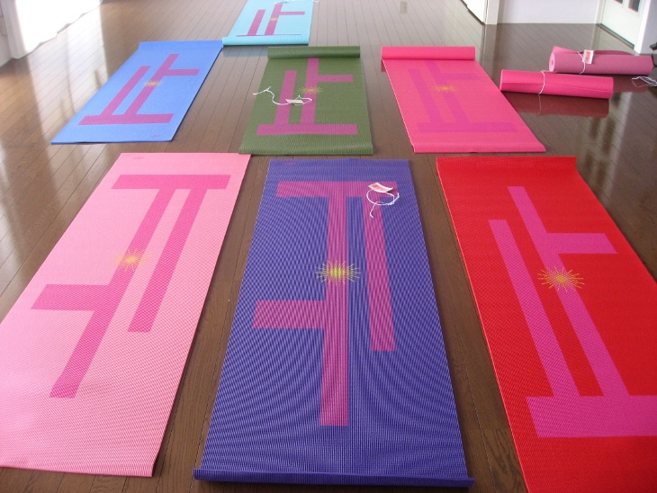 Yoga mats with scribe