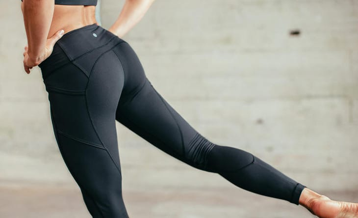 Yoga pants with linings