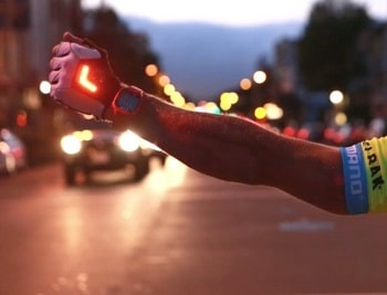 Zackees LED Turn Signal Bike Light Cycling Gloves