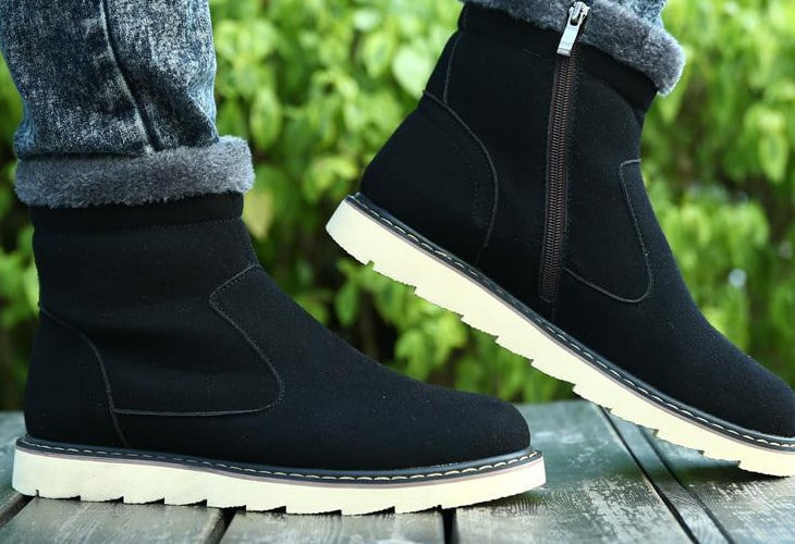 Zippered men snow boots