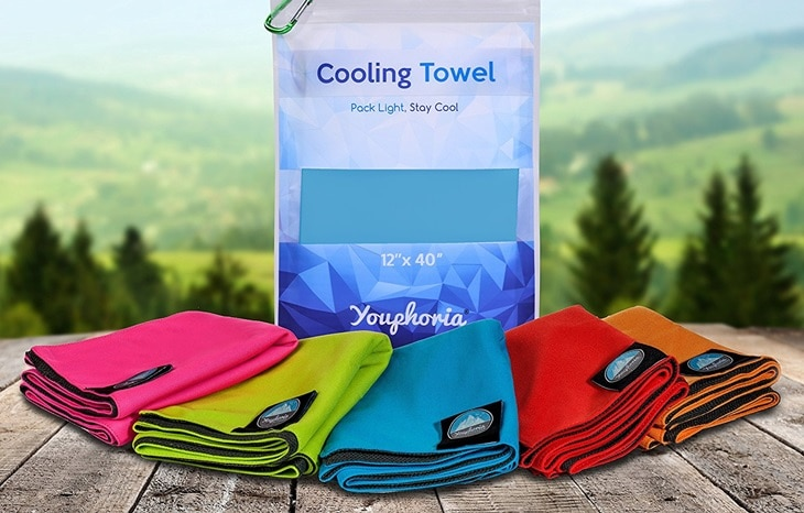 Different backpacking towels
