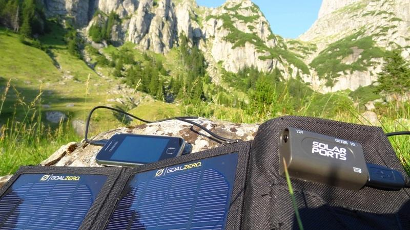 Portable chargers for backpacking
